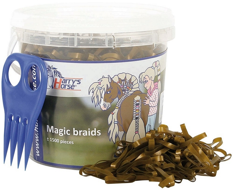 Magic Braids, invlechtelastiekjes in pot