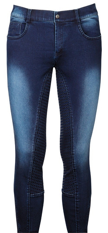 Harry's Horse Rijbroek heren Liciano Denim Full Grip