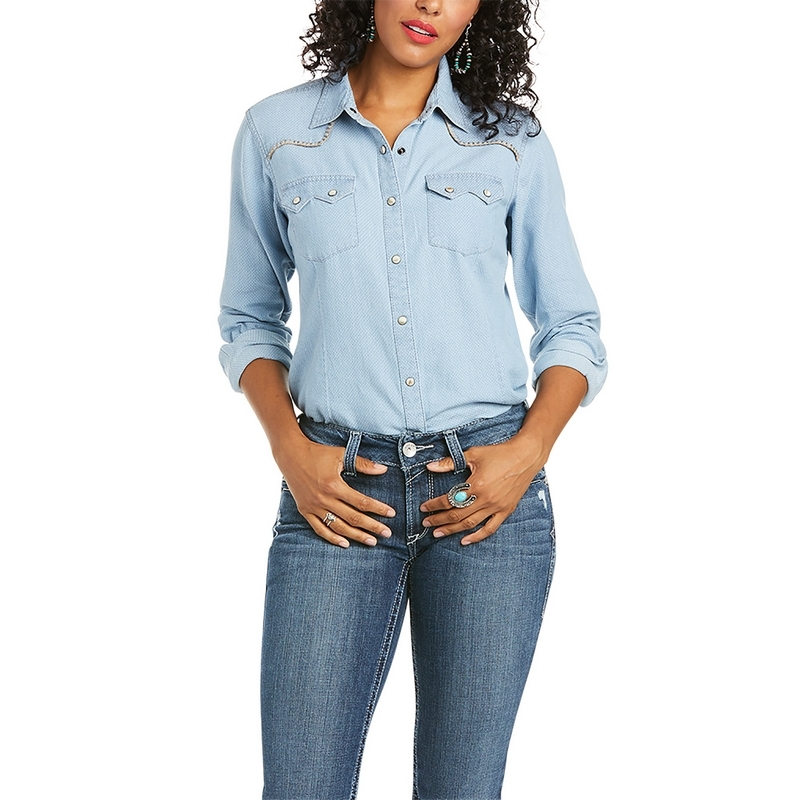 Ariat Dames Real Kind Western-Style Shirt