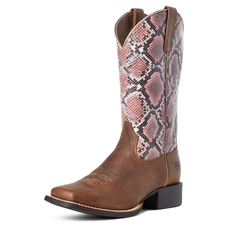 Ariat Womens Round Up Wide Square Toe Western Boots