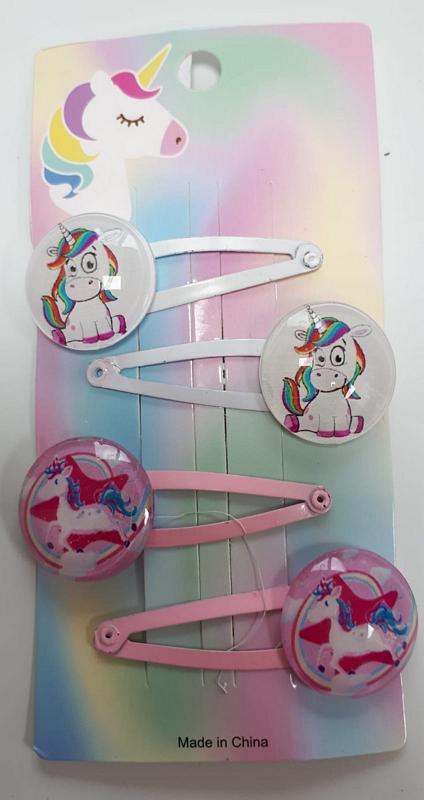 HB Haarclip rond unicorn