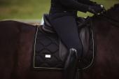Equestrian Stockholm Zadeldek Dressage Black Gold